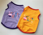 Small Dog Clothes Puppy Cats Pet Birthday Party Clothes Vest T Shirt Cat Clothes