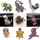 Crysatl Animals Bird Dog Frog Brooch Pin Women Wedding Jewelry Mother's Day Gift