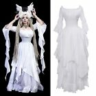 Medieval Renaissance Dress Pirate Boho Peasant Wench Victorian Ball Gown Costume
