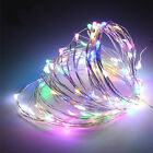 20/50/100…LED Battery Micro Rice Wire Copper Fairy String Lights Party White/RGB