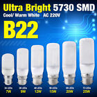 B22 Corn Led Light Lamp 5730 SMD Lights Bulb Candle LEDs AC 220-240V