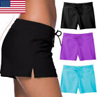 boy short bikini bottom - Womens Plus Size Plain Swim Shorts Bikini Swimwear Boy Style Short Brief Bottoms