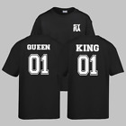 SYRA's KING 01 - QUEEN 01 matching couples unisex t-shirt tops tees UK