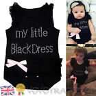 Cute Newborn Baby Girls Clothes Lace Romper Jumpsuit Outfits Bodysuit Black New