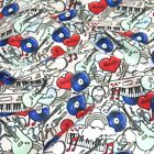 Polycotton Fabric Love Music Musical Instruments Material