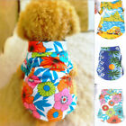 Summer Pet Dog Clothes Hawaiian Beach Floral T-Shirt Apparel Costumes S-XL USA