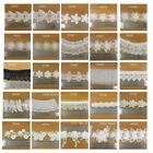 METRE LENGTHS VINTAGE OFF WHITE EMBROIDERY APPLIQUE DRESSMAKING CRAFT UK FAST