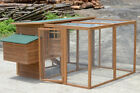 GIANT Chicken Coop  Chook House with extension Rabbit Hutch Hen Cat Run Ferret