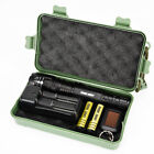 80000LM LED Zoom Military Tactical Flashlight Torch Lamp +18650 Battery+Charger
