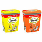 Dreamies Cat Treats Mega Tub 350g Cheese Chicken Flavours