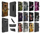 ZTE Zmax Pro 2 Z982 Dual Layer Heavy Duty KickStand Hybrid Holster Cover Case 3