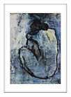 Pablo Picasso Blue Nude Framed Picture Print Art Abstract White or Black Frame