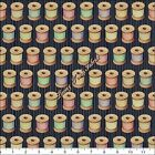 "QT DAN MORRIS ""CUTE AS A BUTTON"" 24828-J SPOOLS OF THREAD FABRIC- SELECT SIZE"