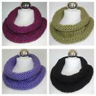 Women's Hand Knitted Chunky Scarf Snood Cowl Winter 8 Colours Scarves