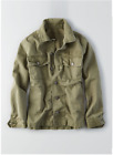 AE American Eagle Outfitters Women 100% Cotton Military Shirt Jakcet Olive NWT