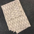 """RUSSIAN ARMY SURPLUS CREAM & GREY FLANNELETTE BLANKET, 56"""" X 78"""" APPROX. CAMPING"""