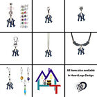 MLB NEW YORK YANKEES AUTHENTIC LOGO CHARM JEWELRY! CHARMS, NECKLACE, CLIPS, PULL
