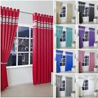 NEW BLACKOUT DIAMANTE DIAMOND BEDROOM LIVING ROOM EYELET RING TOP LINED CURTAINS