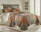 Georgia 3-piece Floral Patchwork Reversible Vintage Washed 100% Cotton Quilt Set image
