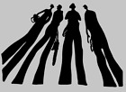 FUNNY 'TREE PEOPLE'/ SHADOW MEN STICKER/DECAL Tree Surgery/Arborist/Forestry Use