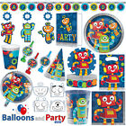 Robots Science Fair Birthday Party Tableware Decorations Sup