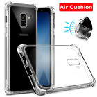 For Samsung Galaxy A5 A7 A8Plus 2018 S9 Clear Shockproof 360 Slim TPU Cover Case