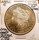 1882-S MORGAN SLIVER DOLLAR CHOICE+ BU/MS DEEP MIRROR PROOF-LIKE, RARE NICE B500