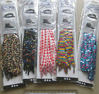 3 Pairs Novelty Print Shoelaces 115cm spots stripes stars hearts leopard conkers