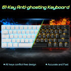LED Backlit Bluetooth USB Wired Gaming Keyboard Mechanical Keyboard For Gamer EM