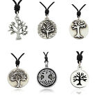 Tree Of Life Silver Pewter Charm Necklace Pendant Jewelry image