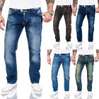 Rock Creek Designer Herren Jeans Hose Regular Fit Stonewash Jeans W29-W44 M17