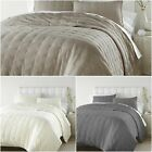 Chezmoi Collection Riley 3-piece Tufted Reversible 100% Soft Cotton Quilt Set image