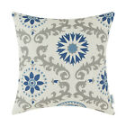 "Square Throw Pillows Cushion Cover Home Decor Dahlia Floral Geometric 18""X18"""