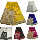 African George Lace Fabric New Silk Nigerian Sequins Lace Fabric Wedding Dresses