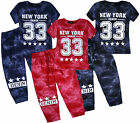 Boys New Tracksuit Kids T Shirt Top And Jogging Bottoms Pants Junior Set Age3-14