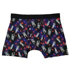 Mens Space Cats & Hearts Valentines Day Boxer Briefs