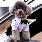 US For Small Dog Pet Fashion Tuxedo Bow Tie Suit Coat Clothes Puppy Cat Costume
