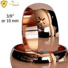 """3/8"""" or 10 MM DOMED SOLID COPPER BAND RING NON MAGNETIC  SIZE 6-13 NMCR01V image"""