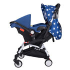 Foldable 4 in1 Toddler Pram Baby Stroller Pushchair High View Car Seat Bassinet