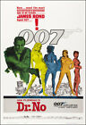 Dr. No Movie Poster Print James Bond 007 - 1962 - Action - 1 Sheet Artwork £15.67 GBP on eBay