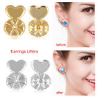 2 Pairs Modern Earring Back Support Sliver Gold Plated Earrings Ear Nut Hot Gift