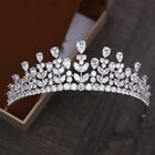 All AAAA CZ Cubic Zirconia Wedding Party Pageant Prom Tiara Crown Gold Silver