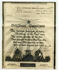 WWII Soldier V-Mail Art Christmas Greeting APO 711 To Aynor SC Card Allied Flags