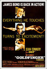 Goldfinger Movie Poster Print - 1964 - Action - 1 Sheet Artwork - James Bond 007 $19.95 USD on eBay