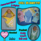 BABY DOLL BLANKETS Assorted Sizes  Styles - Handmade by the Crafty Grandmas