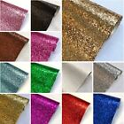 Glitter Fabric Sparkly Chunky Vinyl Taped Backed Material Decor
