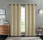 2 Pack: VCNY Home Aries Geometric Blackout Grommet Curtains - Assorted Colors