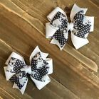 French Bulldog Toddler Hair Bow Set