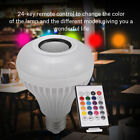 E27 Smart LED RGB Bulb Bluetooth Speaker Stereo Music Playing Light Lamp +Remote