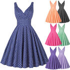 Grace Karin Retro 50s 60s Swing Pinup Polka Dot Formal Evening Party Prom Dress